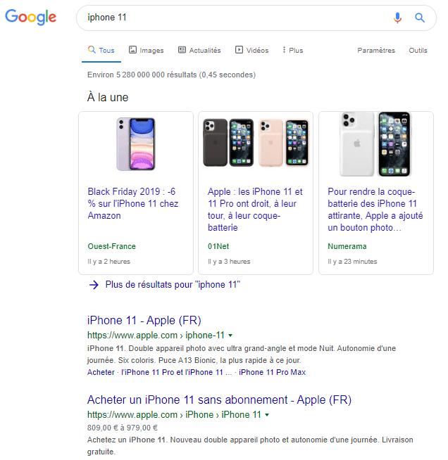 Sans syntaxe Google
