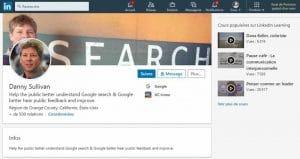 Profil LinkedIn de Danny Syllivan