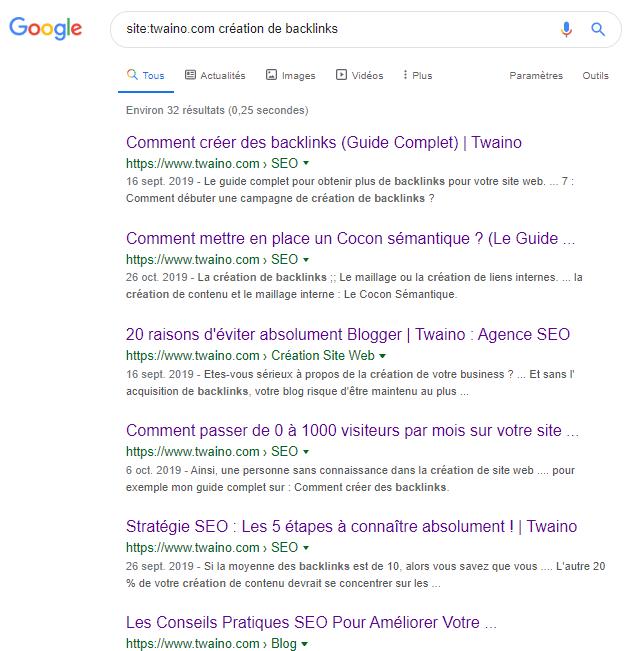 Site Google syntaxe