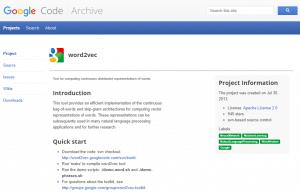 Article de Google sur word2vec