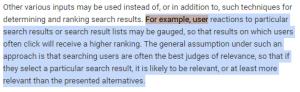 Le comportement des utilisateurs sont utilises par Google
