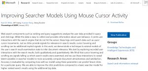 Microsoft utilise les mouvement des curseurs pour classer ses resultats