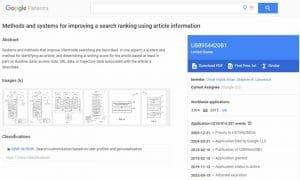 Brevet de Google sur l utilisation des signaux UX pour classer les resultats