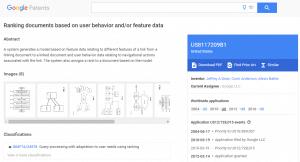 Brevet de Google sur l utilisation le classement des resultats en fonction du comportement des utilisateurs