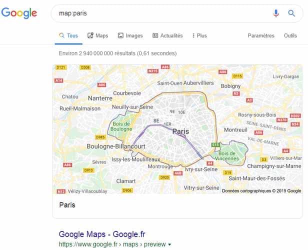 Map Google syntaxe