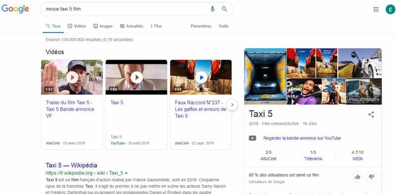 Movie Google syntaxe