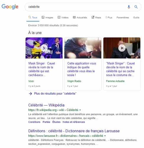 Faire une recherche google sans accent
