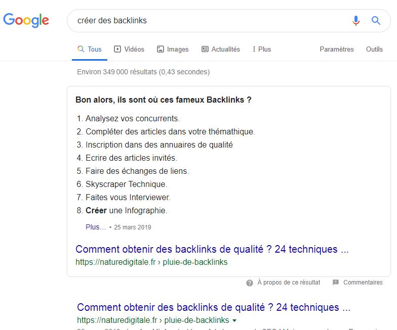 Faire une recherche