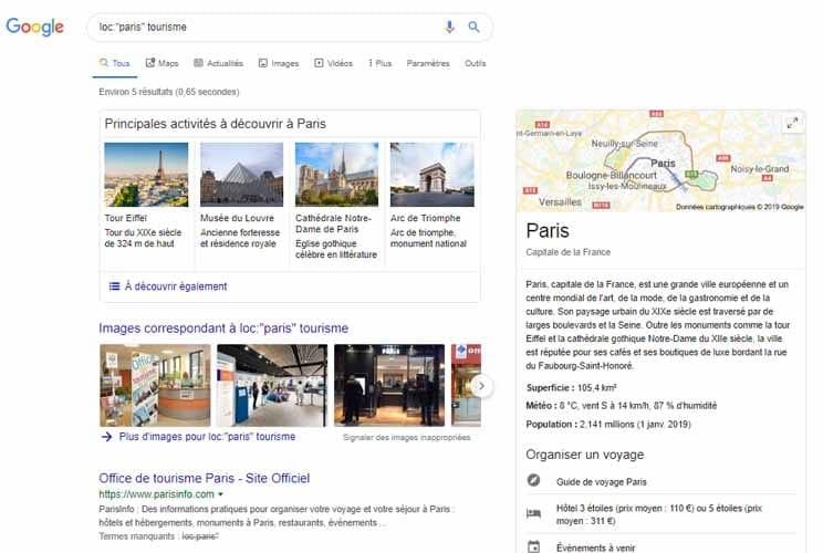 Loc Google Syntaxe