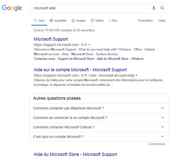 Utilisation operateur recherche google