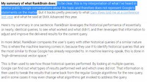 Fonctionnement de RankBrain selon Eric Enge