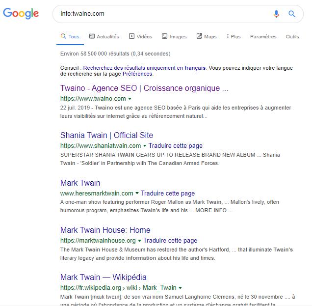 Info Google Syntaxe