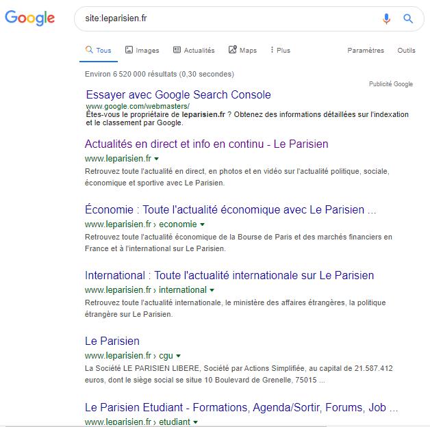 Site syntaxe google