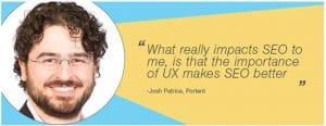L UX est tres important pour le SEO selon Josh Patrice