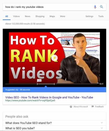 Optimisez vos videos pour le featured snippet 5
