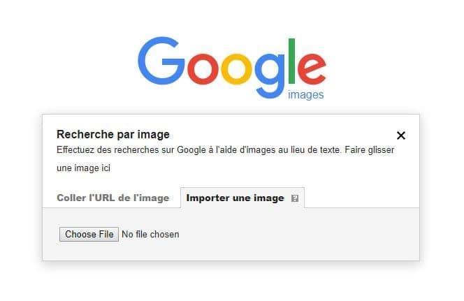 Recherche avec Google Images