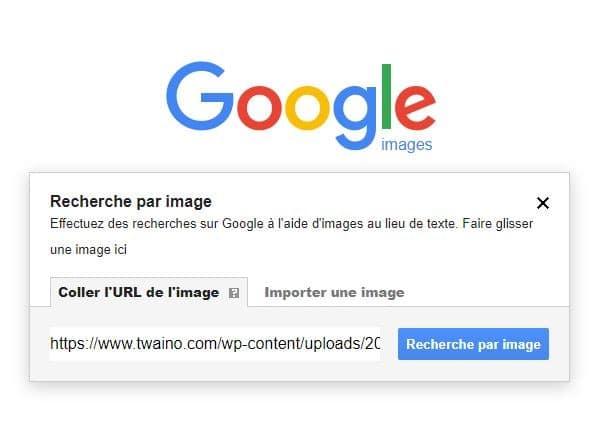 Recherche avec l URL de l image dans Google Images