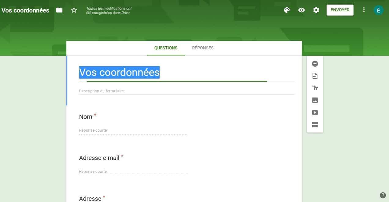 Integrer un Google form dans votre article