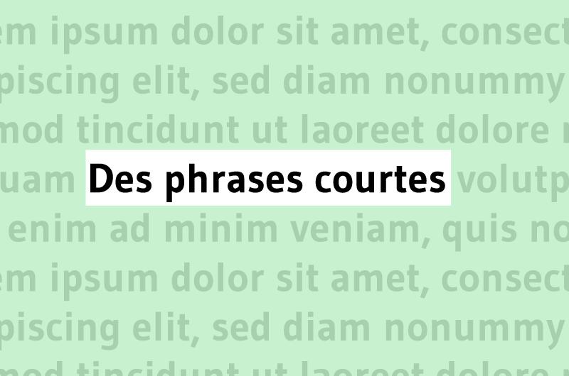 Des phrases courtes