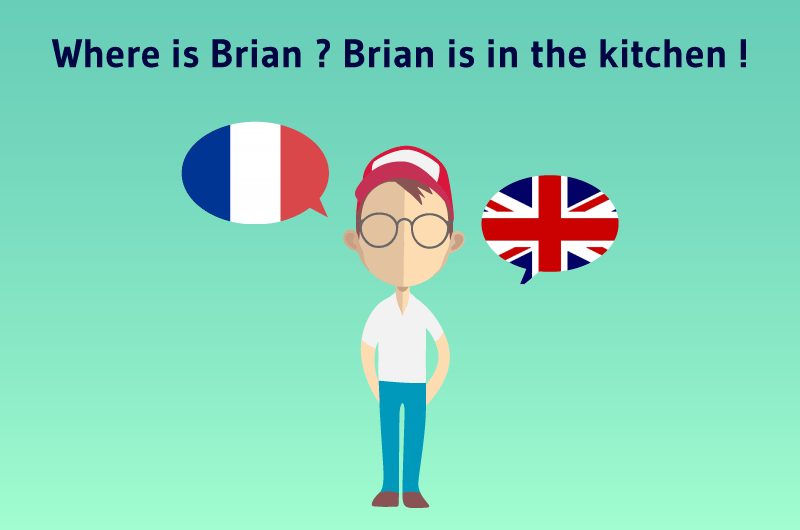 Where is Brian ? Brian is in the kitchen !