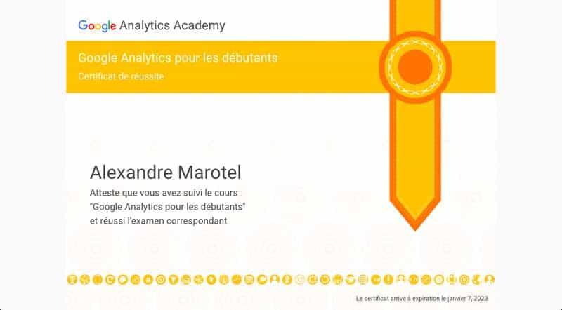 Certificat GA pour les debutants - Alexandre MAROTEL