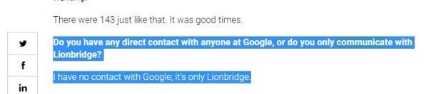 Les Quality Raters n_ont aucun contact avec les employes de Google