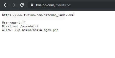 Etat du fichier robots txt