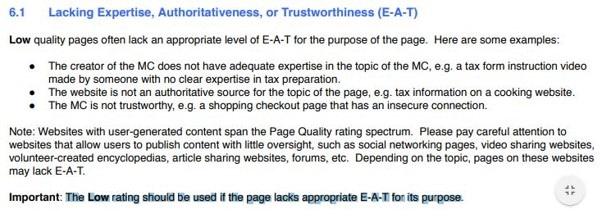 Un E A T bas est un signal de mauvaise qualite