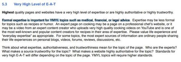 Les differents niveau d expertise requis selon les thematique du site