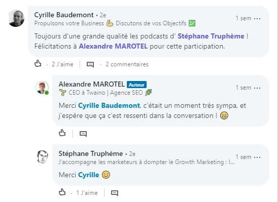 Appreciation du podcast de Stephane Trupheme