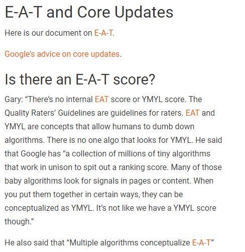 Plusieurs algorithmes conceptualisent l E A T
