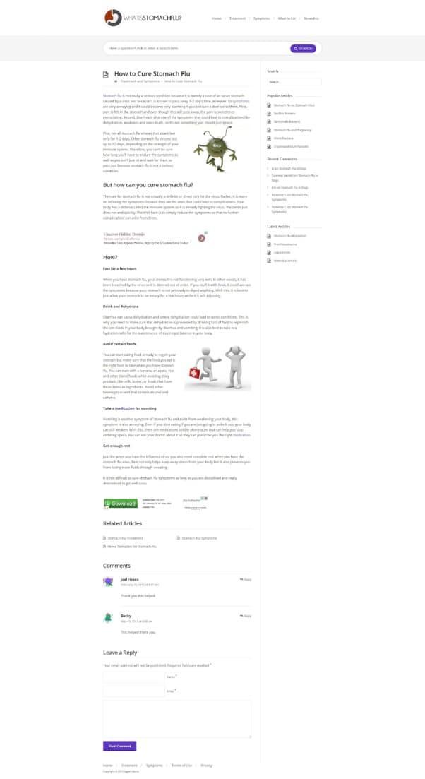Exemple de page avec un bas EAT 2