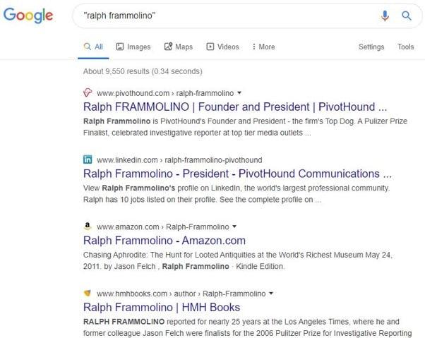 Recherche Google sur les auteurs 2