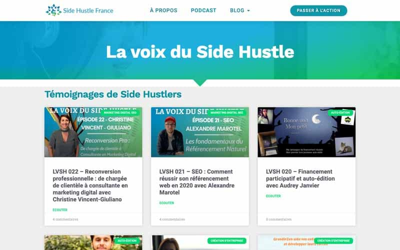 La voix du side hustle France