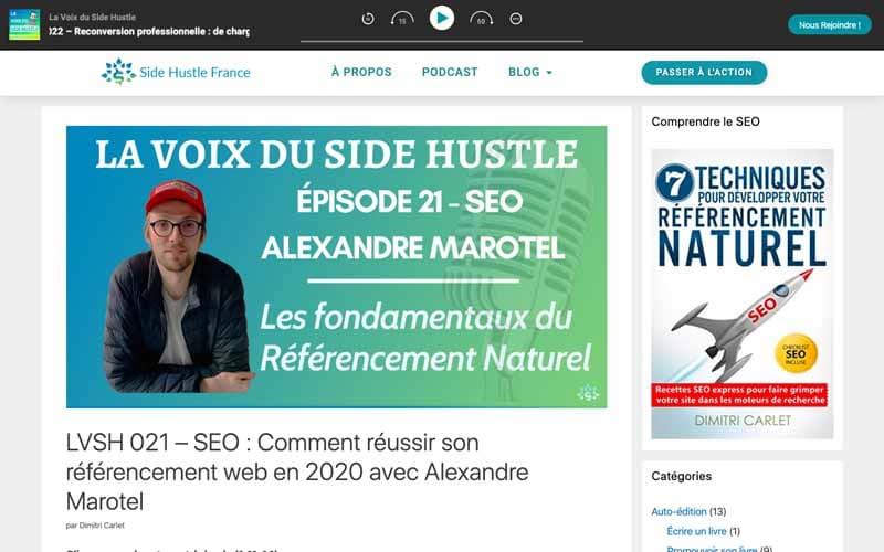 Voix du side Huslte - Les fondamentaux du referencement naturel - Alexandre MAROTEL