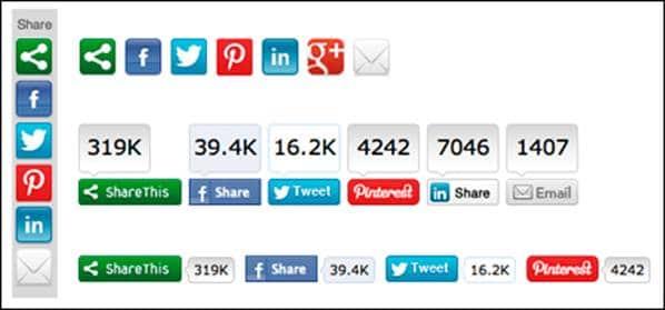 Les boutons de partage social
