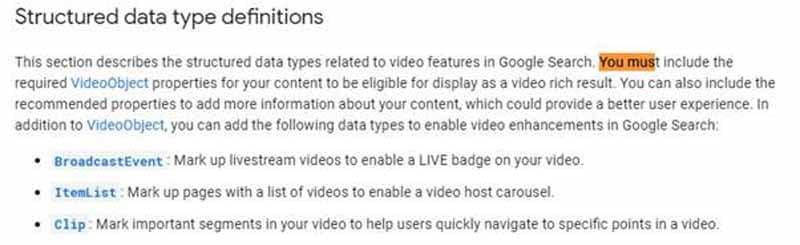 Google exhorte d utiliser les donnees structurees