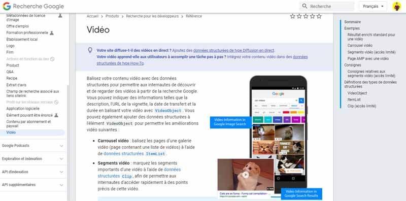Guide de Google sur la video
