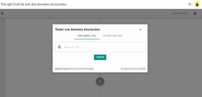 Tester les donnees structurees avec Google