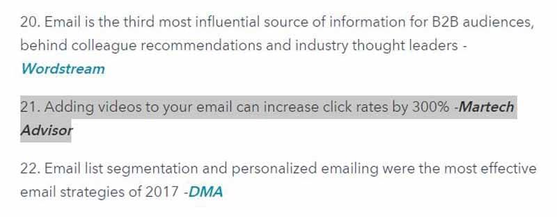 Ajout de video aux mails augmente leur taux de clics de 300 pourcents