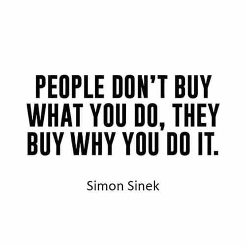 Les gens n achetent pas ce que vous faites mais la raison pour laquelle vous le faites