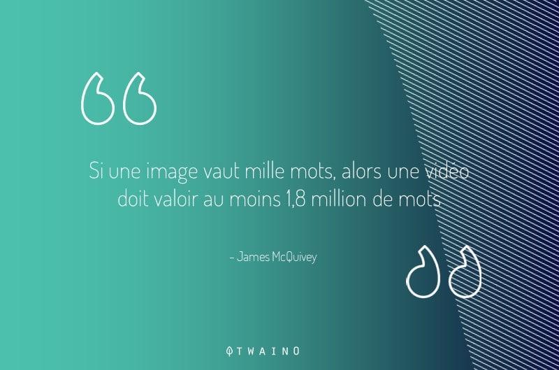 Si une image vaut 1000 mots une video vaut alors au moins 18-millions de mots
