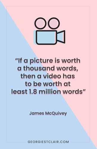 Si une image vaut 1000 mots, une video vaut alors au moins 1 8 millions de mots