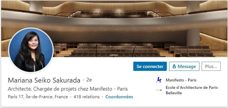 Profil LinkedIn Mariana SAKURADA