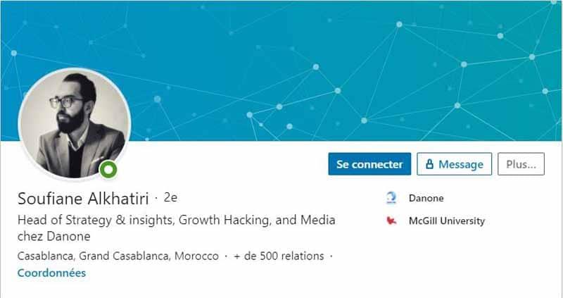 Profil LinkedIn Soufiane A