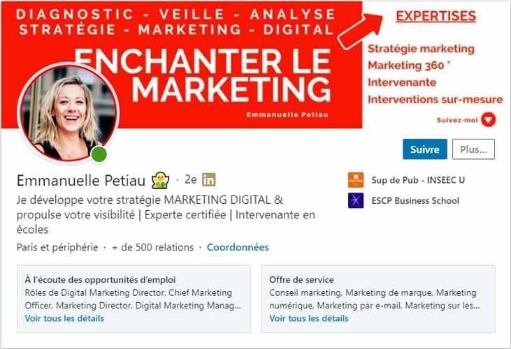 Profil LinkedIn Emammuelle Petiau