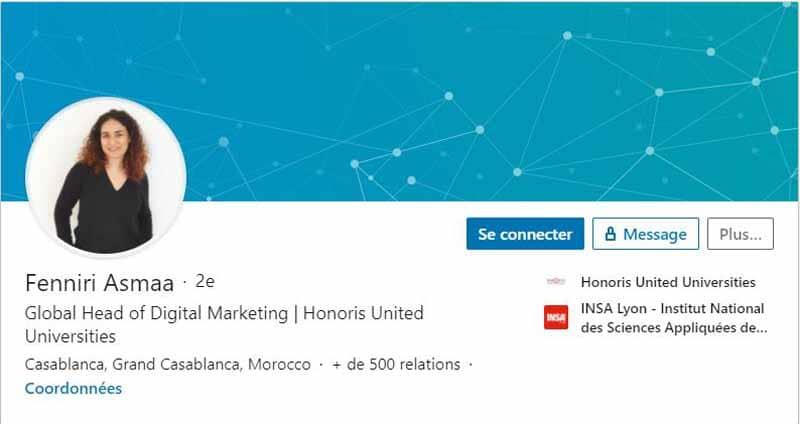 Profil LinkedIn Fenniri Asmaa