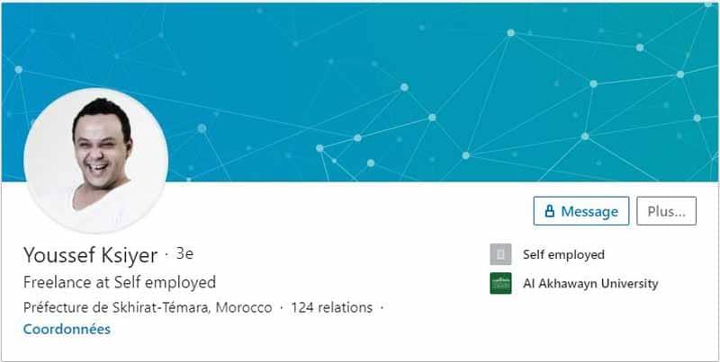 Profil LinkedIn Youssef Ksiyer