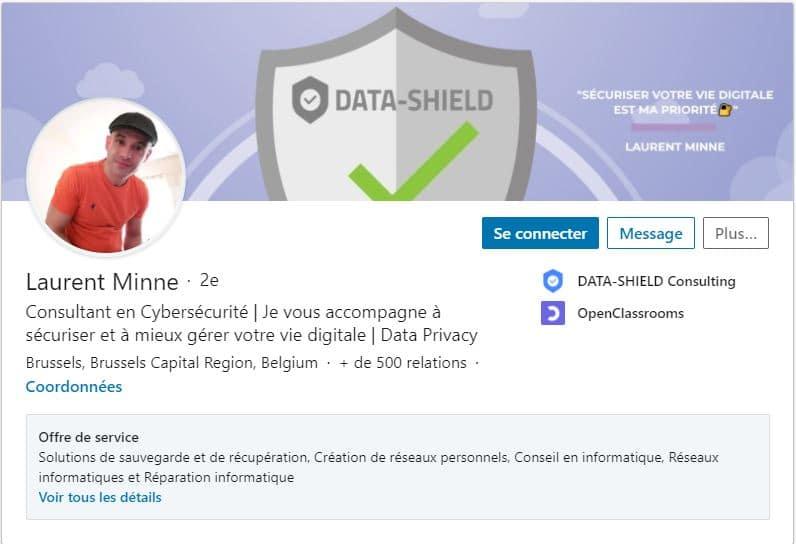 Profil LinkedIn Laurent Minne