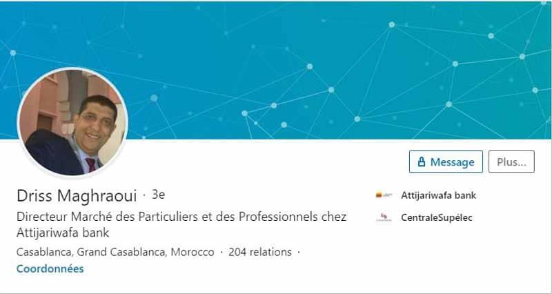 Profil LinkedIn Maghraoui Driss